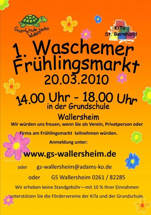 1. Waschemer Frühlingsmarkt